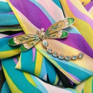 🛍️2/$15🛍️ Colorful Dragonfly Brooch Pin